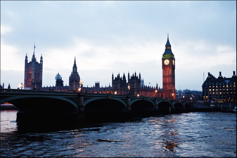 London - River Thames - Big Ben