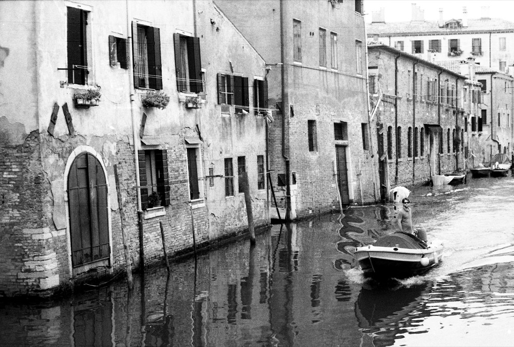 Venice boat canal