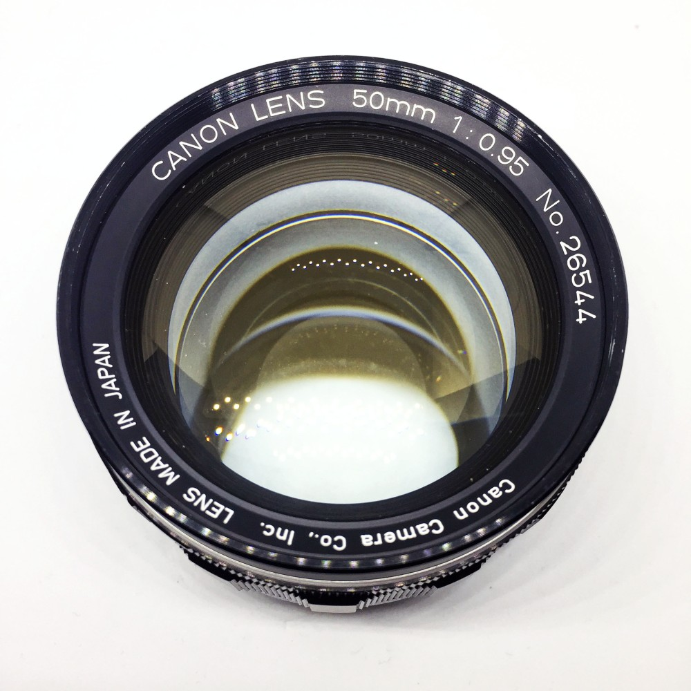 Canon 50mm f0.95 lens