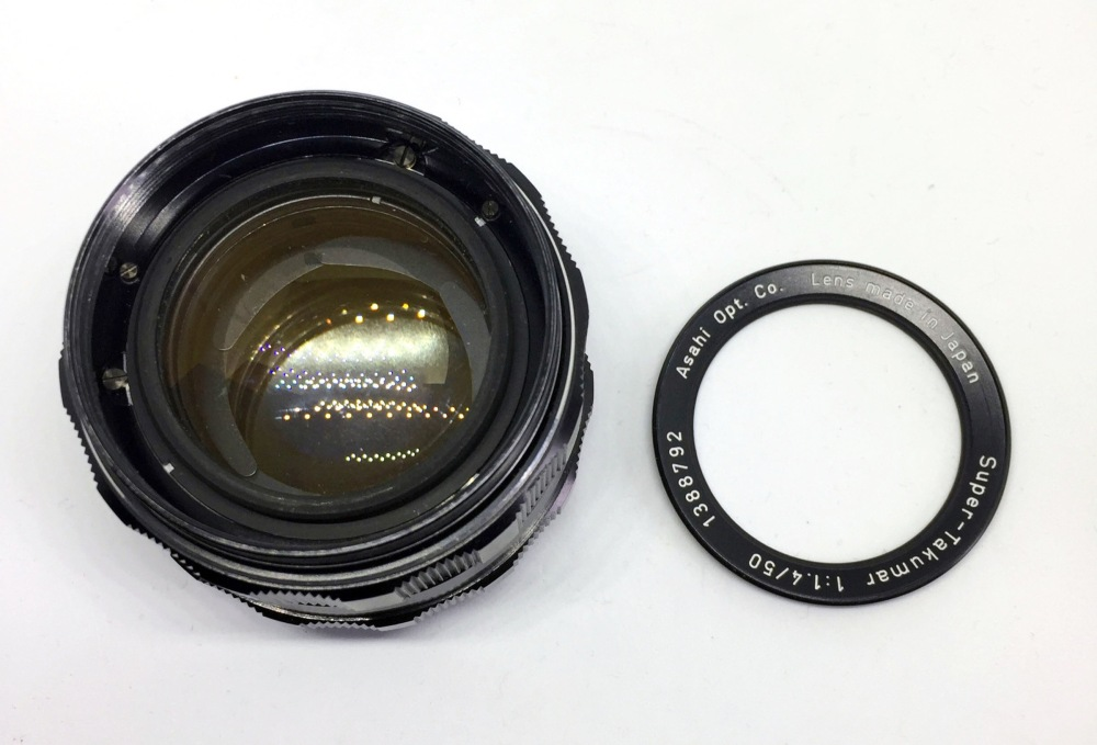 Super Takumar 50mm f1.4 rim removal