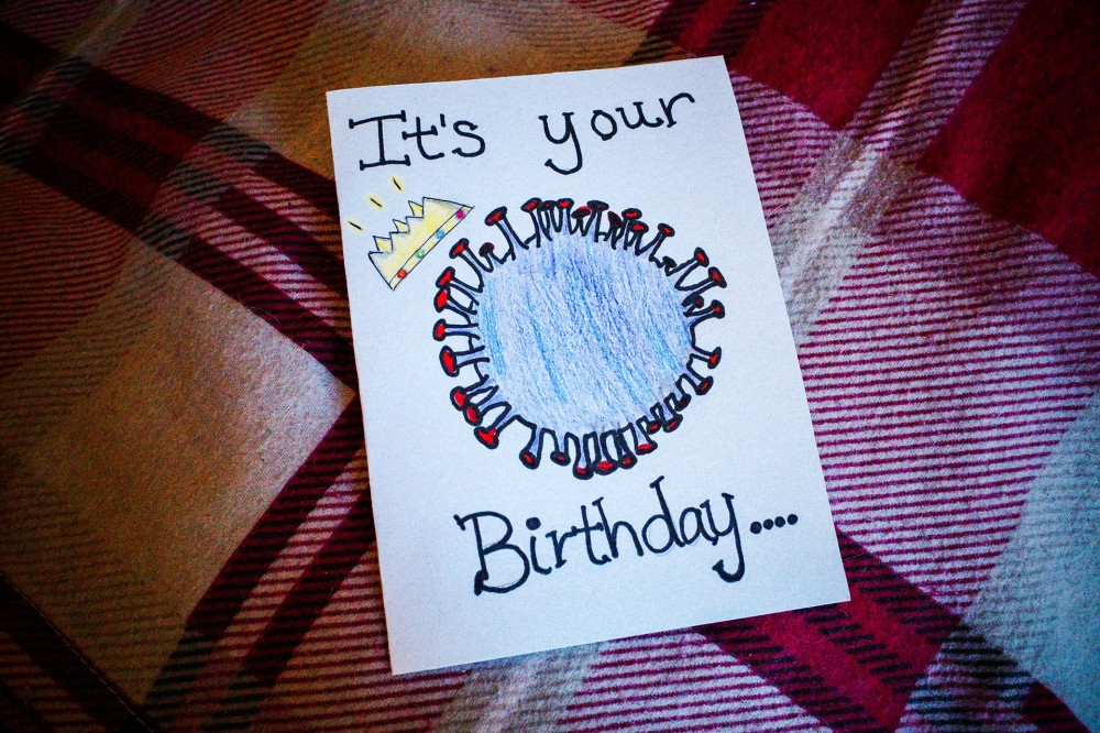 Coronavirus birthday card