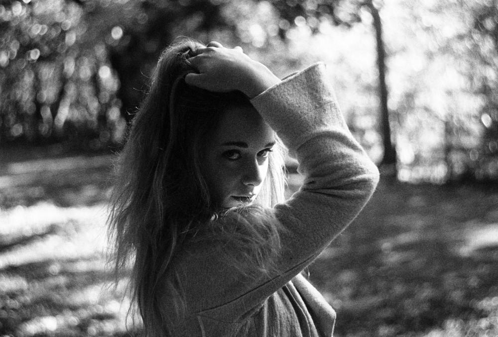 Portrait 35mm black and white