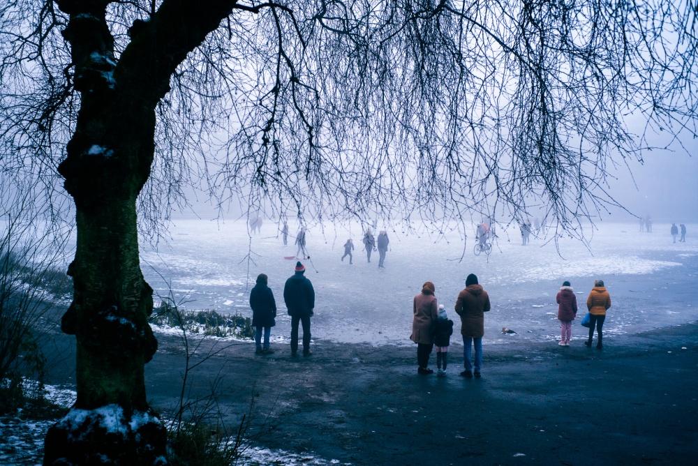 Queen's Park frozen over